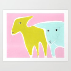 Little Lamb Brothers Art Print