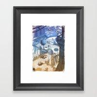 Columbia Fight Framed Art Print
