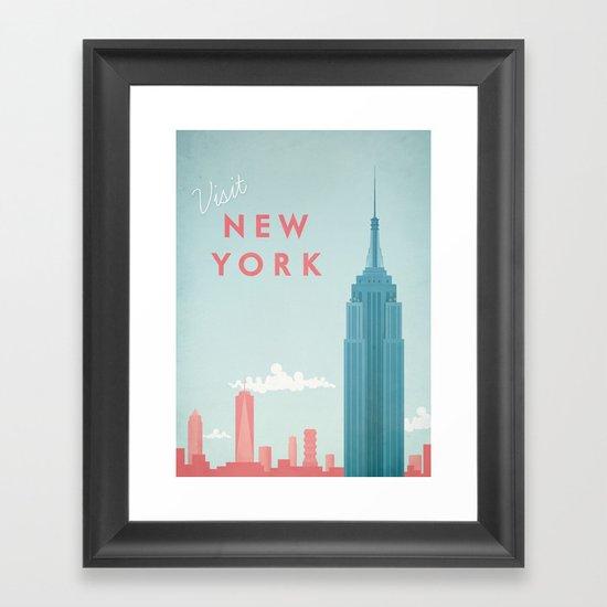 New York New York Framed Art Print By Travel Poster Co