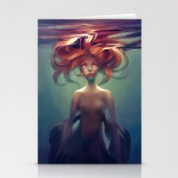 mermaid Stationery Cards featuring Mermaid by loish