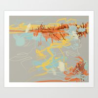 Runoff Patterns Art Print