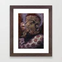 On Fire Framed Art Print
