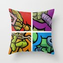 Lichtenstein Pop Martial Art Chelonians Set Throw Pillow