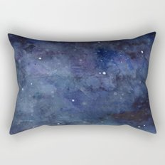Night Sky Stars Galaxy | Watercolor Rectangular Pillow