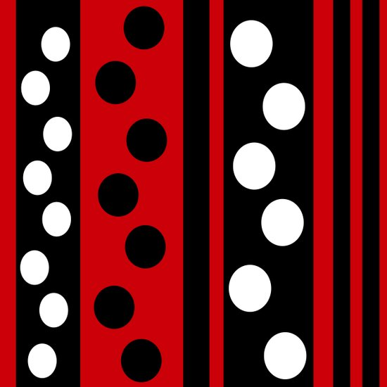 Stripes & Dots Art Print