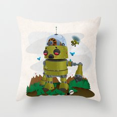 Monster robot toy Throw Pillow