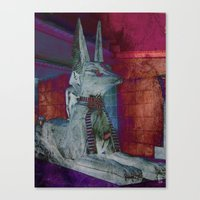 Altered Egyptian Canvas Print