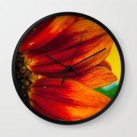 Red Sunflower Wall Clock