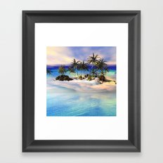 Wonderful view over the island Framed Art Print