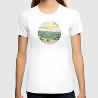 quote T-shirts featuring NEVER STOP EXPLORING - vintage volkswagen van by Leslee Mitchell