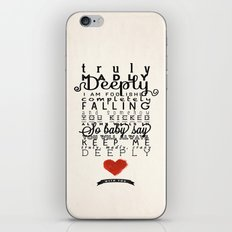 One Direction: Truly Madly Deeply iPhone & iPod Skin