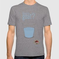 Jurassic Park  ¿Where's the goat? Mens Fitted Tee Tri-Grey SMALL