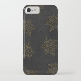 iPhone & iPod Case - Autumn-world 3 - gold leaves on black chalkboard - Simplicity of life