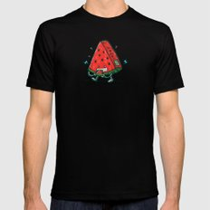 Watermelon Bot Black Mens Fitted Tee SMALL