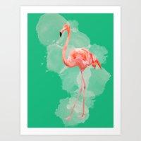 FLAMINGO: THE PINK BEAUTY Art Print