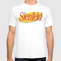 Sienfeld Mens Fitted Tee White SMALL