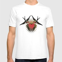 Swallows Mens Fitted Tee White SMALL