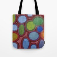 Moving Coloured Round Sh… Tote Bag