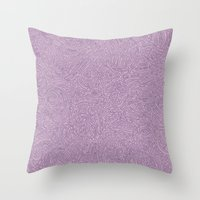 Abstract #002 Cells (Lavender)  Throw Pillow