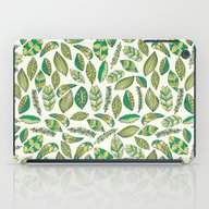 iPad Case featuring Tropical Jungle Leaves by Pom Graphic Design