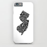 iPhone & iPod Case featuring Typographic New Jersey by CAPow!