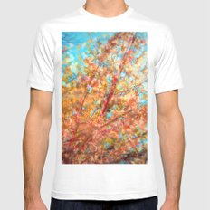 Trippin under a tree White SMALL Mens Fitted Tee