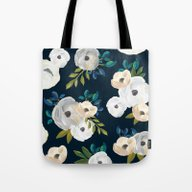 Midnight Florals - Blue … Tote Bag
