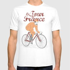 tour de france SMALL White Mens Fitted Tee
