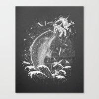 Narwhal Skewer Canvas Print
