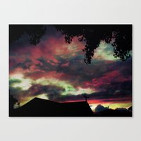 Thick As The Day's End Canvas Print