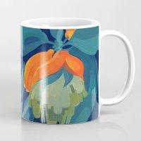 Tropical orange fruit tree Mug