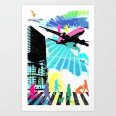City Cloud Art Print
