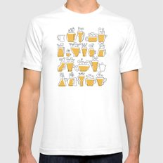 Coffee Mugs Mens Fitted Tee White SMALL