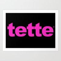 TETTE Art Print