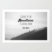 Going To The Mountains I… Art Print