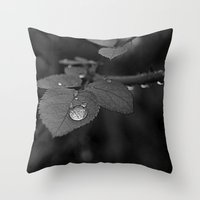 Tear Drop Black & White  Throw Pillow