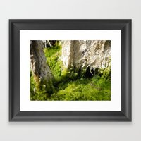 Moss Abstract2 Framed Art Print