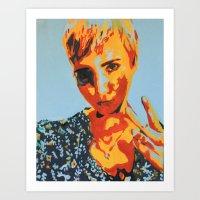 Selfie Sunday Art Print