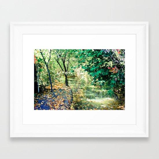 Hidden Autumn Creek Framed Art Print