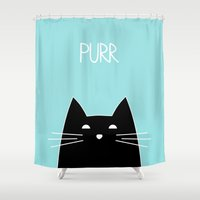 Purr Shower Curtain