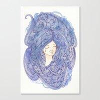 Drowning Girl Canvas Print