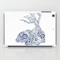 Folk Floral Indigo Deer iPad Case