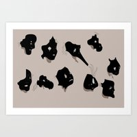 The Black Mask Collection Art Print