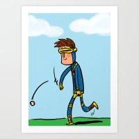 Cyclops Loves Baseball Art Print