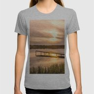 Cold Sunset Womens Fitted Tee Athletic Grey SMALL