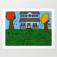 Autumn House Art Print