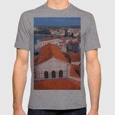 Roofs Mens Fitted Tee Athletic Grey SMALL