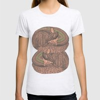 Sleeping Foxes Womens Fitted Tee Ash Grey SMALL