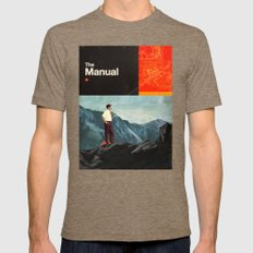 The Manual Mens Fitted Tee Tri-Coffee SMALL