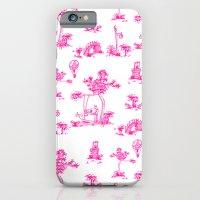 Pink Toile Unicorn iPhone 6 Slim Case